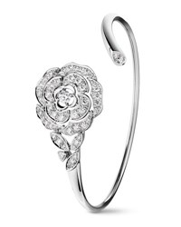 Chanel Bouton De Camelia Bracelet In 18K White Gold And Diamonds