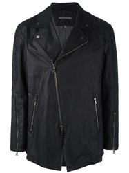 John Varvatos Asymmetric Zip Jacket Black