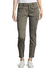 Saks Fifth Avenue Cotton Blend Six Pocket Pants Thyme Green