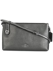 Coach Metallic Grey Crossbody Bag