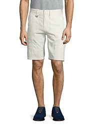 Publish Solid Cotton Shorts White