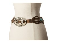 Leather Rock 1771 Brown Turquoise Women's Belts