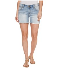 Kut From The Kloth Gidget Frey Shorts In Acknowledge Acknowledge Women's Shorts Blue