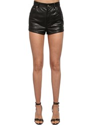 Saint Laurent Python High Waist Shorts Black