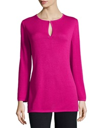 St. John Knit Long Sleeve Tunic Cosmo