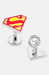 Ravi Ratan Men's Cufflinks Inc. 'Superman Shield' Cuff Links Red Yellow
