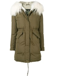 Mr And Mrs Italy Fur Trimmed Down Jacket Green