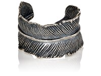 M Cohen M. Men's Feather Cuff Ring Silver