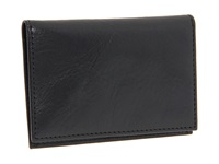 Bosca Old Leather Collection Calling Card Case Black Leather Credit Card Wallet