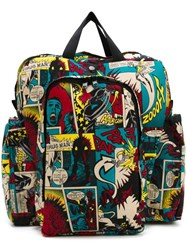 Jean Paul Gaultier Vintage Printed Backpack Multicolour