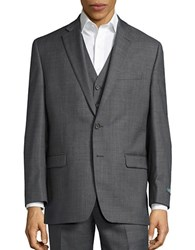 Lauren Ralph Lauren Big And Tall Two Button Wool Jacket Grey