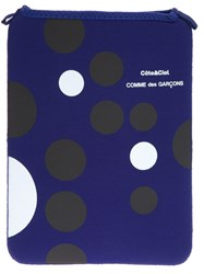 Comme Des Garcons Play Circle Tablet Sleeve Blue