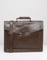 Royal Republiq Conductor Leather Satchel Brown