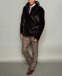 The Fur Vault Men's Mink Bomber Jacket Ranch