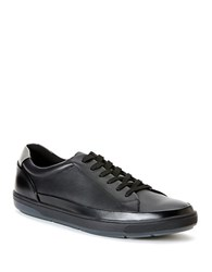 Calvin Klein Ward Leather Lace Up Sneakers Black