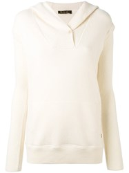 Loro Piana Kangaroo Pocket Hooded Jumper Women Cashmere 44 Nude Neutrals