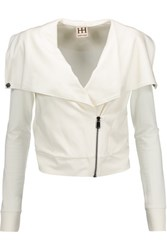 Haute Hippie Draped Jersey Jacket Ivory