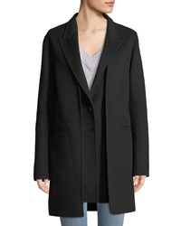 Rag And Bone Kaye Wool Single Button Coat With Vest Black