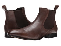 Fitzwell Double Gore Boot Cognac Tequila Leather Men's Dress Boots Brown