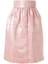 Marc Jacobs Leather Lamb Skin Skirt Pink