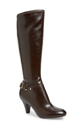 Naturalizer 'Britta' Tall Boot Regular And Wide Calf Brown Faux Leather