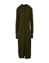 Collection Privee Overcoats Military Green