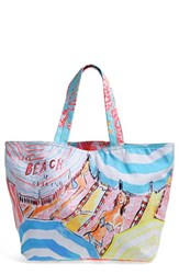 Lilly Pulitzer Print Canvas Beach Tote