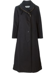 Issey Miyake Vintage Hooded Oversized Long Coat Black