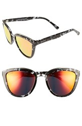 Diff Women's Rose 56Mm Cat Eye Sunglasses Black White Red