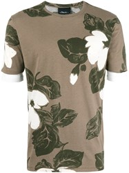 3.1 Phillip Lim Floral Print T Shirt Green