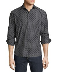 Culturata Coupe Textured Sport Shirt Black