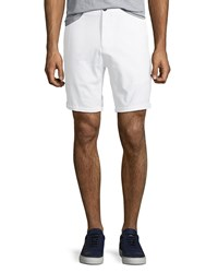 Civil Society Tailored Stretch Bermuda Shorts White