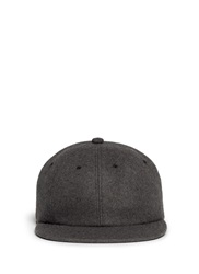 Attachment Felted Wool Cashmere Cap Grey