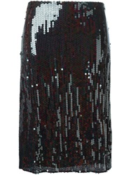 Nina Ricci Sequin Skirt Brown