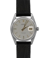Rolex Men's Pre Owned 34Mm Men's Leather Watch