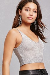 Forever 21 Sheer Chainmail Cropped Cami