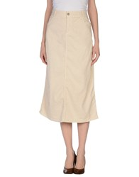 Manila Grace Skirts 3 4 Length Skirts Women Beige