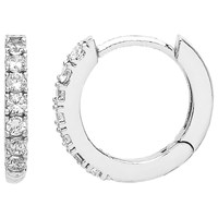 Estella Bartlett Cubic Zirconia Pave Set Hoop Earrings Silver