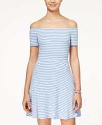 American Rag Striped Off The Shoulder Dress Only At Macy's Denim