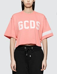 Gcds Logo Crop T Shirt