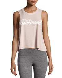 Spiritual Gangster Sunkissed Script Crop Tank Light Pink