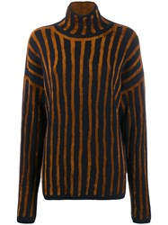 Christian Wijnants Knitted Striped Jumper Blue
