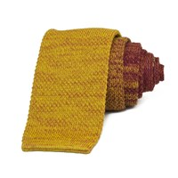 40 Colori Rust Vanise Cotton Knitted Tie Yellow Orange