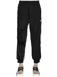 Adidas Originals By Alexander Wang Velour And Nylon Track Pants