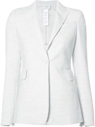 Akris Punto Flap Pockets Blazer White