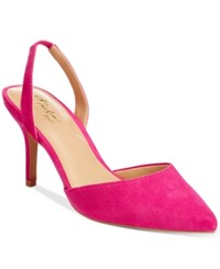 Thalia Sodi Lola Pointed Toe Slingback Pumps Only At Macy's Women's Shoes Berry