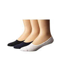 Sperry Canoe Liner Solid 3 Pack Classic Navy Men's No Show Socks Shoes