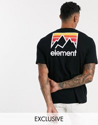 Element Joint T Shirt In Black Exclusive At Asos