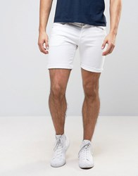 Pepe Jeans Cane Slim Fit Denim Short White Wash White