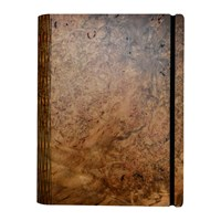Bark And Rock Sweet Gum Burr Wooden Notebook Pocket 15.5X19cm